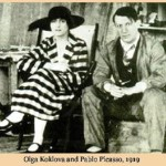 1919 Family photo of Picasso and Olga