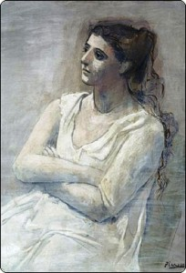 One of hundreds of portraits of Olga