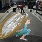 Street art by Polish artist Gregor Wosik