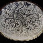 Crystal plaque, naval battle