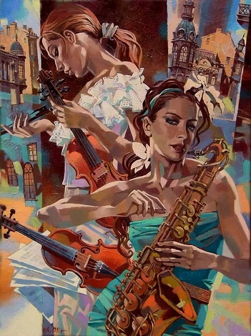 Saxophone and violin