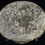 Cofanetto Farnese, gilded box of Cardinal Alessandro Farnese with rock crystal plaques by Giovanni dei Bernardi (between 1543-1544) Detail: Crystal plaque,triumph of Bacchus
