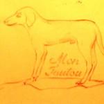 «Mon toutou» (my dog)
