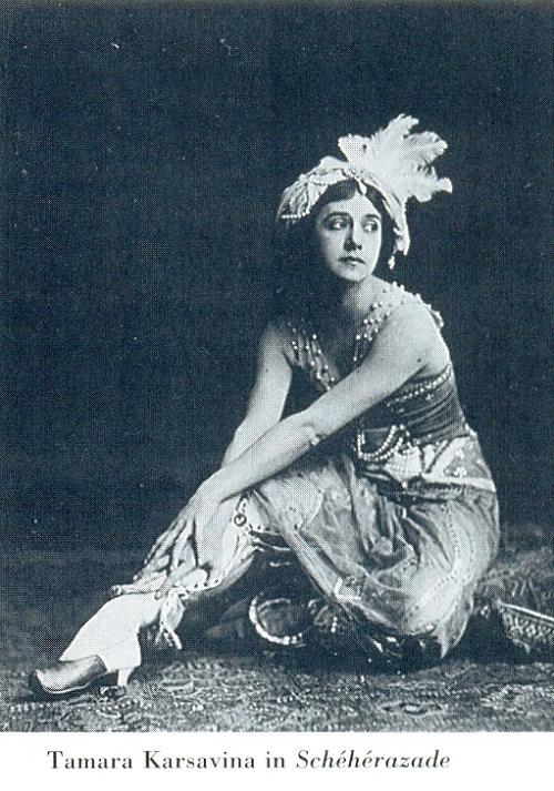 Tamara Karsavina in Scheherazade
