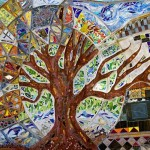Tree of life. Colorful mural in Austin, Texas