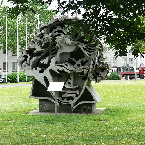 unusual monument to Beethoven