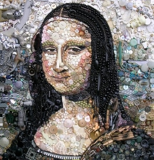 Button art by British artist Jane Perkins