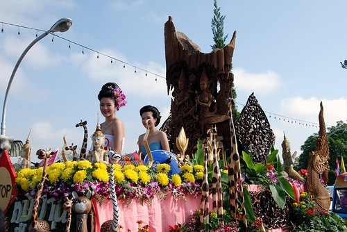 Colorful Chiang Mai Festival of Flowers in Thailand