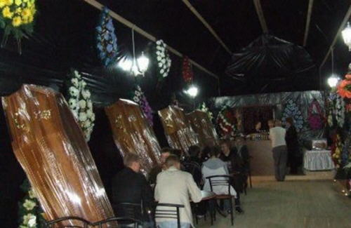 Ukraine, bar housed inside the largest coffin in the world