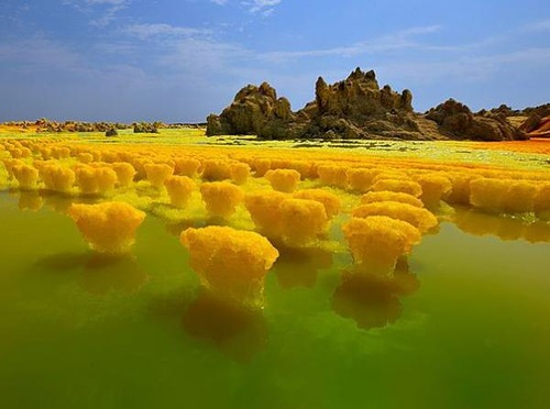 Alien landscape on Earth