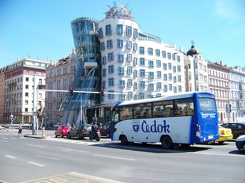 Unique Dancing House in the center of Prague