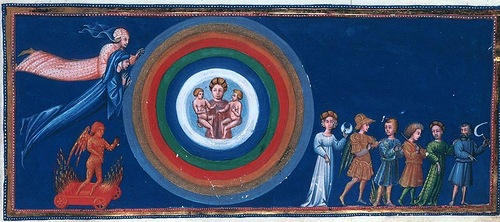 Divina Commedia - Paradiso - illuminated by Giovanni di Paolo c. 1450