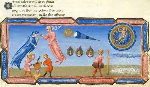 Exquisite work of art. Divina Commedia - Paradiso - illuminated by Giovanni di Paolo c. 1450