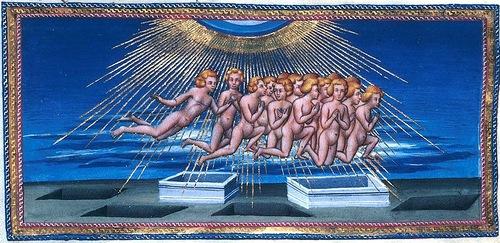 """Illustrated by Italian master Giovanni di Paolo """"Divina Commedia – Paradiso"""". c. 1450"""
