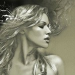 Blonde beauty. Female Portrait. Digital Illustrations by Ukrainian artist Yuriy Ratush