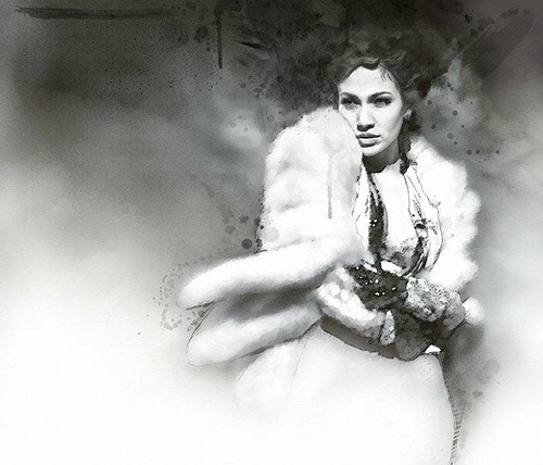 Actress Angelina Jolie. Digital Illustrations by Ukrainian artist Yuriy Ratush