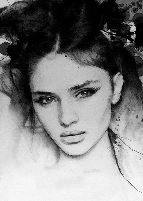 Stunningly beautiful girl's portrait