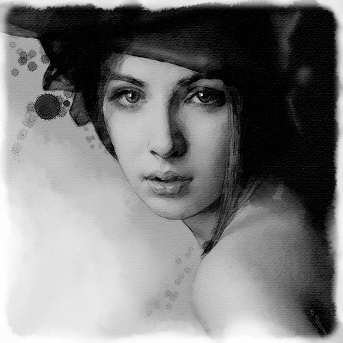 Gorgeous Female Portrait. Digital Illustrations by Ukrainian artist Yuriy Ratush