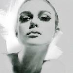 Looks like Fashion icon of 1960s – Twiggy. Digital Illustrations by Ukrainian artist Yuriy Ratush