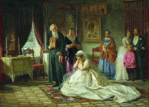 Firs Sergeyevich Zhuravlev (1836-1901) Before the wedding. 1874