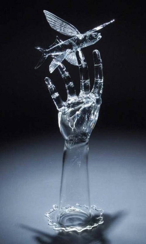 Glass sculpture by American artist Robert Mickelsen