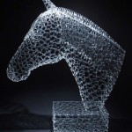 Glass sculpture by American artist Robert Mickelsen