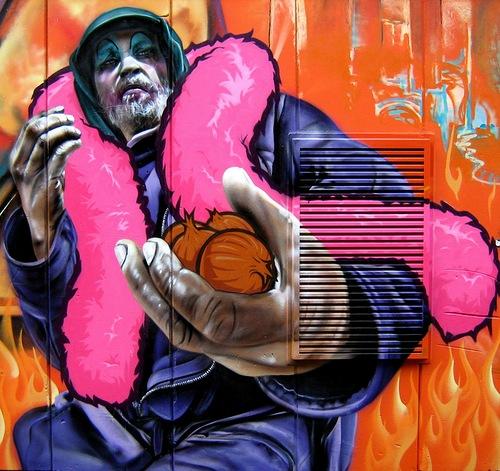 Smug One graffiti