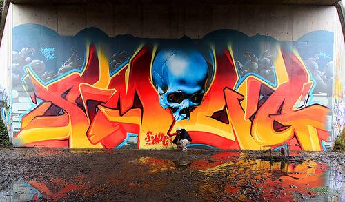 Graffiti by Australian street artist Smug