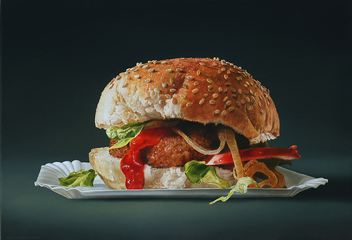 Hyperrealistic painting by Dutch artist Tjalf Sparnaay