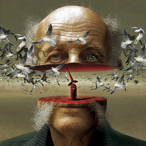 Surrealistic painting by Polish artist Igor Morski