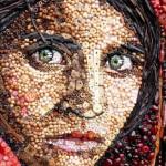 Button art by British artist Jane Perkins