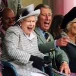 Not often you can see the queen roaring with laughter, shot of her at the Braemar Highland games with Prince Charles and his wife, Camilla, in 2006