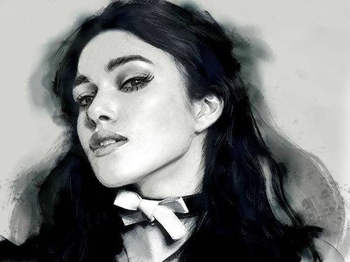 British actress Keira Knightley. Digital Illustrations by Ukrainian artist Yuriy Ratush