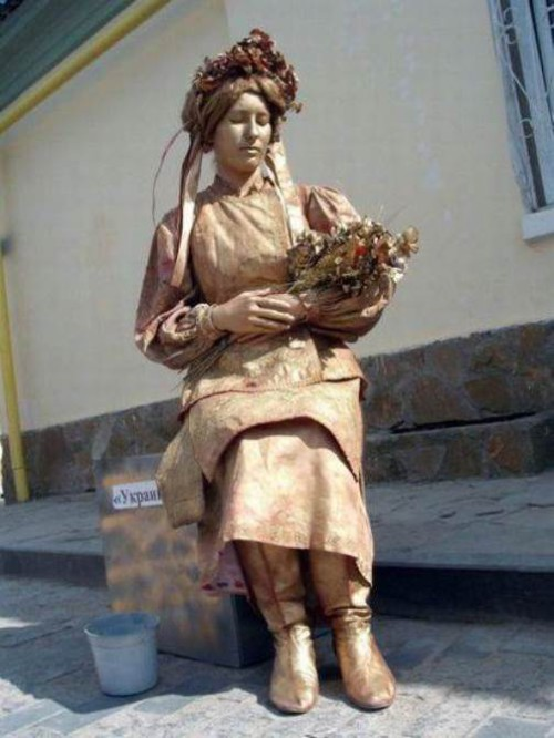 Living Statue of Ukrainian girl