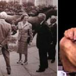 Lady Margaret Thatcher at Las Colinas, Texas (left), Robert Glen (right)