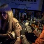 Tattoo master creating his work