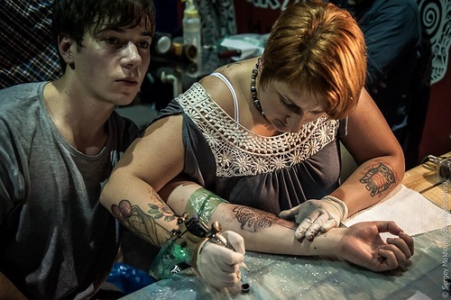 Moscow Tattooers Congress, Arena Moscow club, Russia