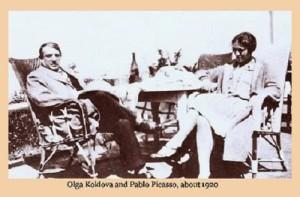 1920. Olga and Pablo