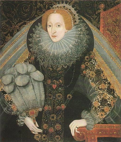 Twelve fans of Elizabeth, about 1585-'90. Twelve fans of Elizabeth I Tudor. Attributed to John Bettes the Elder. Collection of Fitzroy