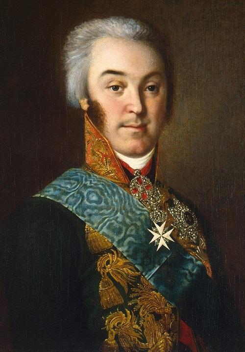 Portrait of Sheremetev, Nikolay Petrovich, by artist N. I. Argunov. 1800s