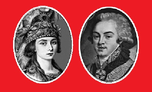 Praskovia Zhemchugova and Count Sheremetyev