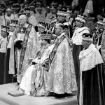 Westminster Abbey. Queen Elizabeth II at her coronation