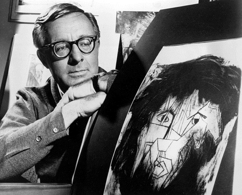 1966 photo, Ray Bradbury