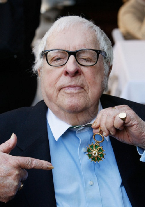 Showing award, Ray Bradbury
