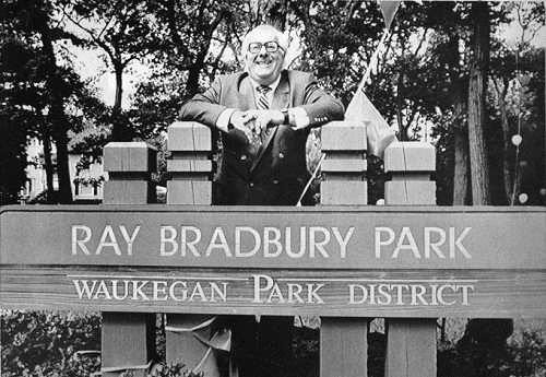 Happy Ray Bradbury in the park named after him