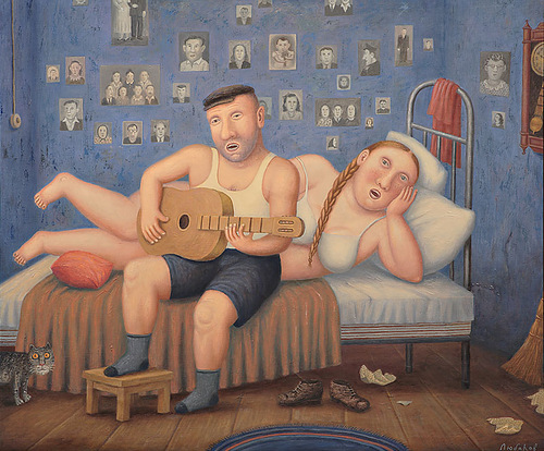 Russian life in Vladimir Lyubarov's paintings