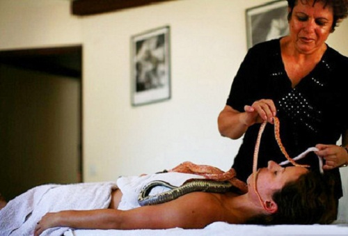For massaging small muscles - more suitable small reptile