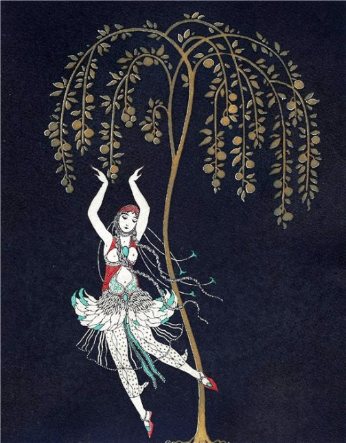 "George Barbier Tamara Karsavina in the ballet ""The Firebird"" 1914"