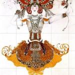 """Leon Bakst, Tamara Karsavina in the ballet """"The Firebird"""" 1910"""