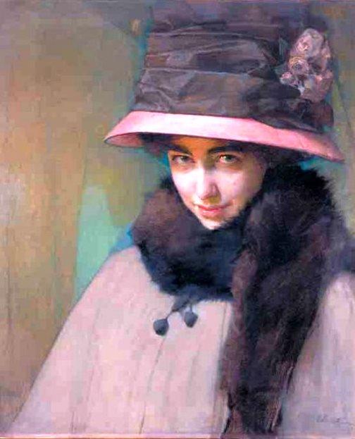 Eberling A.R. portrait of ballerina Tamara Karsavina 1911
